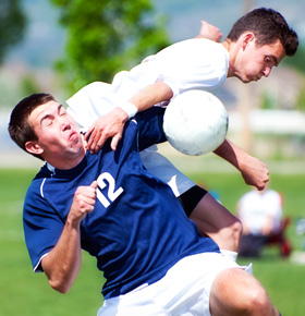 image of sport concussion in soccer